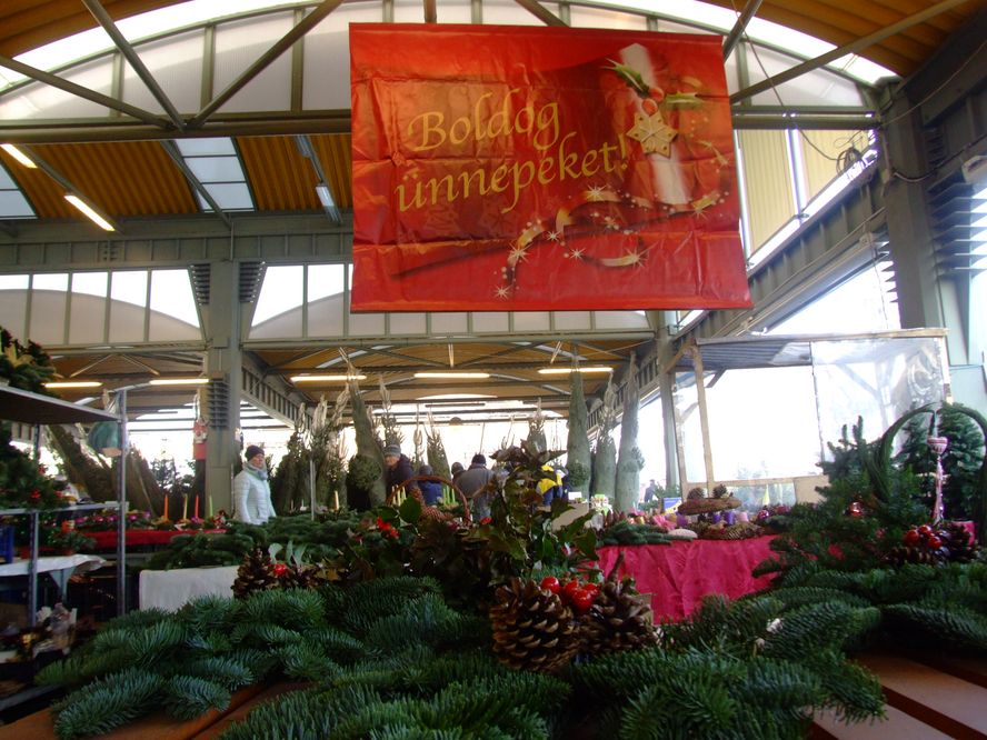 A piac karácsony előtt